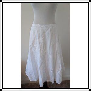 INC White Eyelet Boho Skirt, Size 10